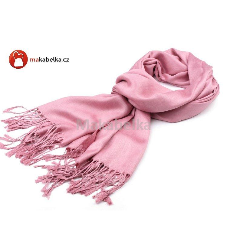 d62980f8a50 Šála PASHMINA 70x180cm jemně růžová