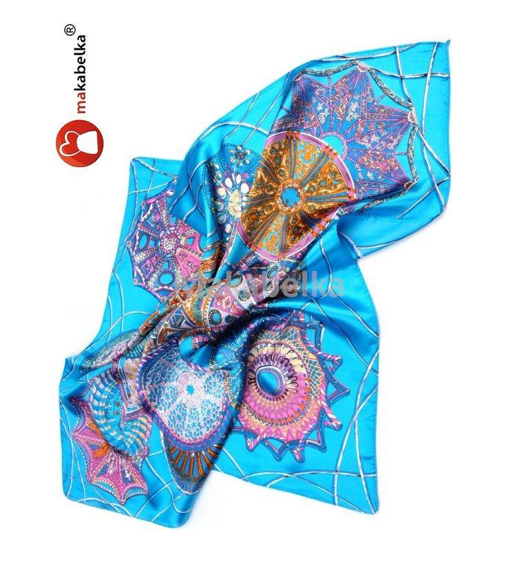 Šátek Angel 57x57cm satén modrý  3867545dc72