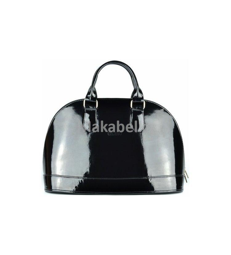 Luxusní elegantní kabelka Grosso S24 černá lesklá db837468592