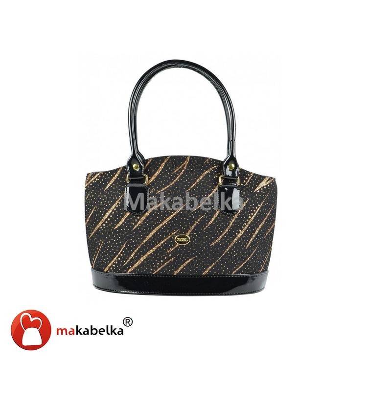 Luxusní čená kabelka Grosso S37 s třpytkami  54fc6663179